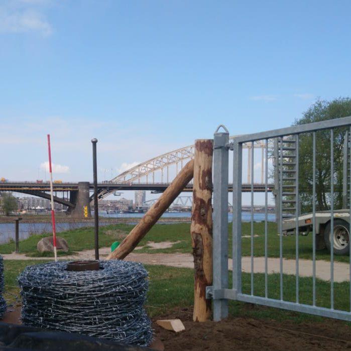 Groot-vee raster Stadswaard Waalstrandje Nijmegen